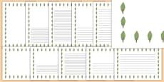 Poplar Tree Themed Page Borders