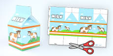 Milk Carton Net Template