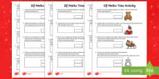 Elf Time Problems Differentiated Activity Sheets