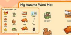 Autumn Pre-Teaching Word Mat