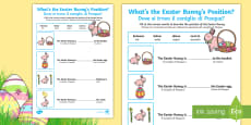 Foundation Easter Position Activity Sheet English/Italian