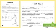 * NEW * St David's Day Fill in the Blanks Writing Activity Sheet