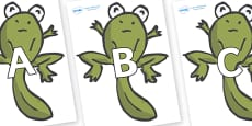 A-Z Alphabet on Froglets