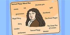 Samuel Pepys Word Mat