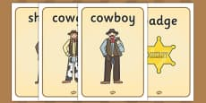 Wild West Display Posters
