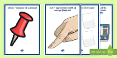 * NEW * Length Reference Points A4 Display Poster