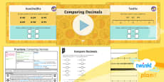 * NEW * PlanIt Y4 Fractions Compare Decimals Lesson Pack