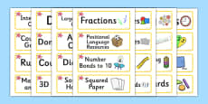 Starfish Themed Editable Maths Area Resource Labels