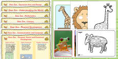 Lesson Plan and Enhancement Ideas EYFS to Support Teaching on Dear Zoo