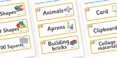 Lion Cub Themed Editable Classroom Resource Labels