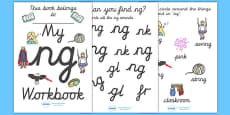 My 'ng' Letter Blend Workbook (Cursive)