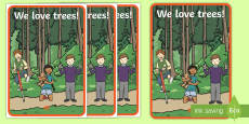 * NEW * We Love Trees A2 Display Poster