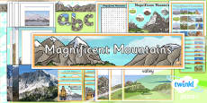 PlanIt - Geography Year 5 - Magnificent Mountains Unit Additional Resources