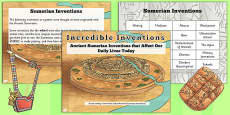 Ancient Sumerian Inventions Activity PowerPoint Pack