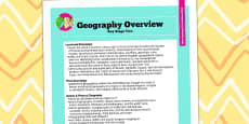 2014 Curriculum KS2 Geography Overview