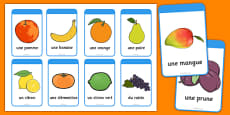 Fruit Flashcards French