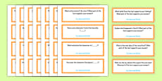 Common Core Third Grade Reading Literature Question Stem Cards USA