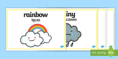 * NEW * Weather Words Display English/Polish