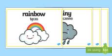 Weather Words Display English/Polish