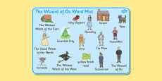 Wizard of Oz Word Mat