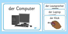 Computer Area Word Labels German