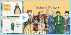 Tudor Clothes PowerPpoint