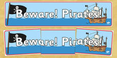 Beware Pirates Display Banner