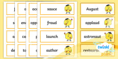 PlanIt Spelling Year 5 Term 2B Word Cards