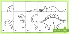 Hojas de colorear de dinosaurios