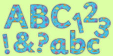 The Rainbow Fish Themed Display Lettering