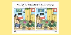 Sa Seomra Ranga, Aimsigh na Difríochtaí Activity Sheet