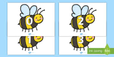 Numbers 0-20 on Bees