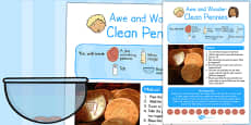 Clean Pennies Awe and Wonder Science Activity