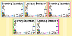Editable Learning Intention Display Signs