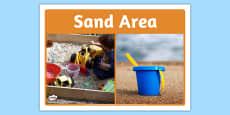 Sand Area Photo Sign