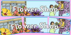 Flower Shop Display Banner