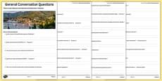 General Conversation Question List Travel and Tourism