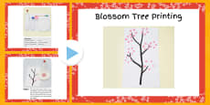 Blossom Tree Printing Craft Instructions PowerPoint