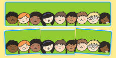 Editable Banner Childrens Faces