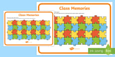 Class Memories End of Year Activity Sheet