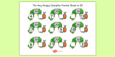 Number Bonds to 20 to Support Teaching on The Very Hungry Caterpillar