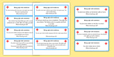 Being Safe With Medicines 'What Should You Do If' Cards