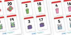 Number Bonds to 20 Present Matching Cards Activity