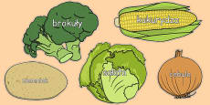 Vegetable Words on Vegetables Polish