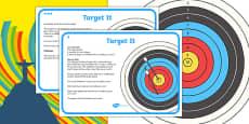 KS2 Maths The Olympics Rio 2016 Archery Target Activity