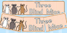 Australia - Three Blind Mice Display Banner