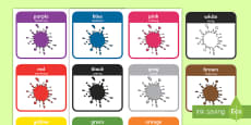 * NEW * Colour Word Flashcards English/Polish