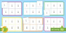 Bingo: Fracciones equivalentes