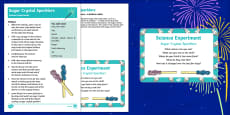 EYFS Sugar Crystal Sparklers Science Experiment and Prompt Card Pack