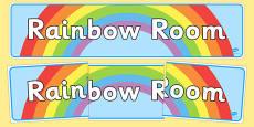 Rainbow Room Display Banner